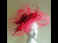 Suzie Mahony Designs Cerise Crin Fascinator